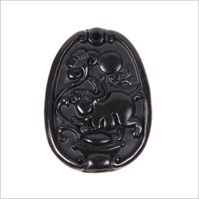 泗滨砭石挂件 生肖砭佩兔
