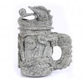 麦饭石水杯 大号雕图龙杯