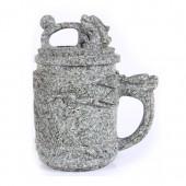 麦饭石水杯 小号雕图龙杯