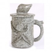 麦饭石水杯 小号雕图杯2