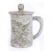 麦饭石水杯 小号雕图杯5