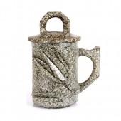 麦饭石水杯 小号雕图杯1